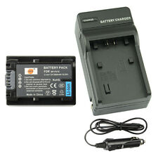 DSTE NP-FV70 Battery + Charger For Sony HDR-HC9E HDR-TD30E FDR-AX100E