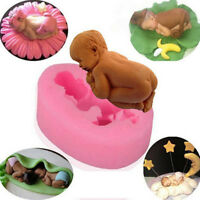 DIY Silicone Sleeping Baby Shaped Cake Mould Fondant Sugar Candy Cupcakes