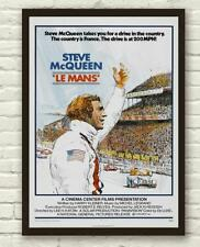 Vintage Le Mans Steve McQueen Racing Movie Film Poster Print Picture A3 A4