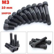 50pcs Black M3 Iron Screw Hex Socket Cap Hexagon Combination Screws Bolts US
