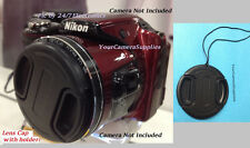 FRONT SNAP-ON LENS CAP  DIRECTLY to CAMERA NIKON COOLPIX L120 L 120 +HOLDER