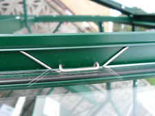 """50 Thick Stainless Steel """"W"""" Greenhouse Glazing Clips"""