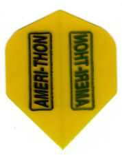 Dart Flights-5 Black w/ Yellow Bkgrd Amerithon Std Sets