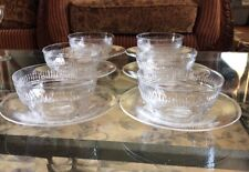 12 Pieces Webb Corbett Crystal Glass Finger 6 Set Of Bowls & Under plates Signed