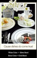 150 Full table Settings Plates, Cups, Cutlery WEDDING SPECIAL Disposable Plastic