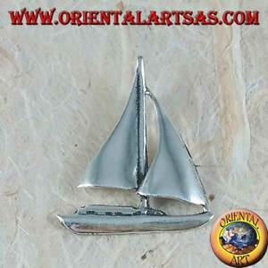 Silber Anhänger 925‰ Boot A Segeln Mittel