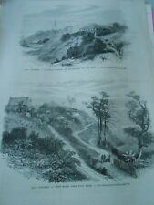 Gravure 1872 - Iles Andaman Pénitentier L'ile Ross Port blair