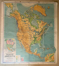 Philips Comparative Series Of Large School Maps North America 1941