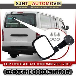 Rear Tailgate Door Mirror Assembly fit Toyota Hiace H200 Van 2.5 2.7 3.0L 05-13
