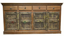 Recycled Timber Indian Antique Door Sideboard Buffet Storage Cabinet Statement