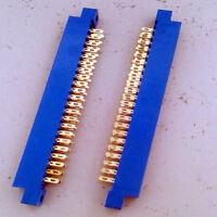 1pcs Card Edge Connector 2 X 22 PIN 44 Pin 3.96mm Gold Slot Panel Solder Socket