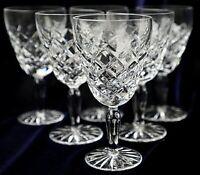 Vintage Retro Diamond Cut ?Bohemia Lead Crystal Wine Glass 150ml 14cm h 200g