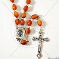 CATHOLIC Rosary OLIVE WOOD Holy WATER wooden PRAYER HOLY LAND