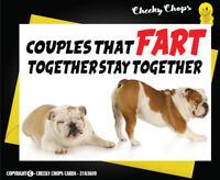 Funny Cheeky Rude Birthday Anniversary Love Greetings Card Dog - FART c55