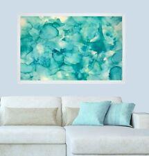 Watercolour Duck Blue FRAMED Resin effect Modern ORIGINAL Abstract Painting Art