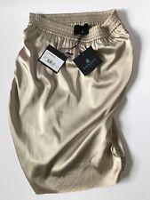 Auth LANVIN Glossy Beige  Stretch Knee-length Skirt Sz FR 38 US Sz 4