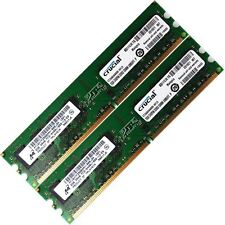 Crucial 4GB 2x2GB DDR2-800 PC2-6400 Non-ECC Desktop PC Memory RAM 240-pin