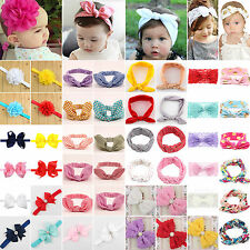 10pcs Cute Newborn Baby Girl Headband Elastic Hair Band Infant Kid Soft Headwear