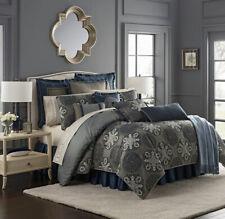 Waterford Jonet Reversible Comforter Set - Indigo - Size: King