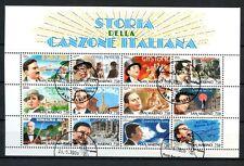 San Marino 1996 SG#155a Music, Singers Cto Used Sheetlet #A34372