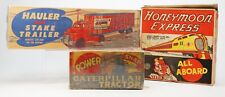 MARX 1950's Hauler&Stake truck,Honeymoon Express, Climbing Tractor (BOXES ONLY)