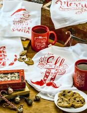 Christmas LOL Holiday Dish Towels Primitives By Kathy Cotton NEW GLITTER DESIGNS