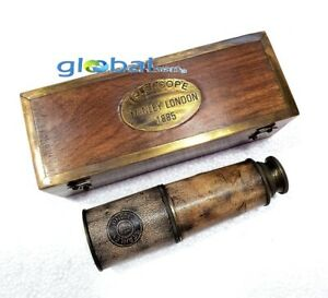 "Antique Maritime 14"" inches Brass London Nautical Vintage Spyglass Telescope"