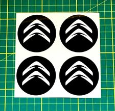4x Alloy Wheel stickers white and black 55 mm fit citroen center badge trim cap