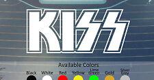 KISS VINYL DECAL STICKER CUSTOM SIZE/COLOR MOTLEY CRUE BLACK SABBATH DEEP PURPLE