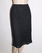 Jonathan Elliot Brand Black Textured Knee Pencil Skirt Size L BNWT #TD05