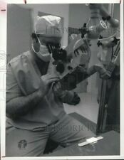 Vintage Photos 1983 Dr William Amos with Laser Scalpel 7 X 9 Inches