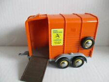 BRITAINS Beaufort Double Horse Box Trailer 1979 orange