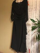 Jade By Jasmin Black Formal Weding Evening Coctail Party Maxi Dress Size 12