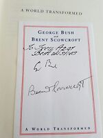 A World Transformed Signed Book President George H.W Bush autograph