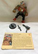 Complete Teenage Mutant Ninja Turtles 1988 Bebop Hardhead TMNT Vintage Figure