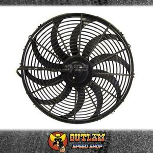 """AEROFLOW ELECTRIC THERMO COOLING FAN 16"""" DIAMETER CURVED BLADE 2000 CFM"""