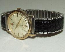 Vintage Working WALTHAM 17j Gold Art Deco Men's Wrist Watch -Stainless Flex Band