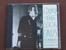 IAN DURY & THE BLOCKHEADS - WARTS N AUDIENCE. LIVE 22/12/1990  CD ALBUM