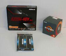AMD Ryzen 5 2600X & AsRock A320M-HDV r4.0 mATX Motherboard & 16GB RAM BILD COMBO