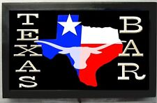 Texas Bar sign Led Lighted Bar Sign /Texas State Longhorn Sign great gift
