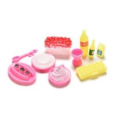 10 Pcs / set Accessoires de modèle Barbies Kids Dollhouse Kitchen Supplies9HK