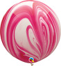 """30"""" RED & WHITE SUPERAGATE PACK OF 2 PARTY SUPPLIES"""