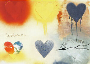 Postkarte - Herzen -  Jim Dine - Small Heart Painting No. 12