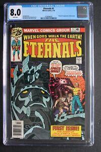 ETERNALS #1 Origin First DEVIANTS IKARIS Marvel 1976 KIRBY New MOVIE CGC VF 8.0