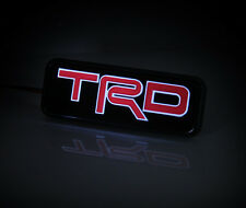 TRD LED Light Emblem Car Front Grille Badge For Toyota Corolla Camry Yaris Decal