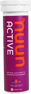 Nuun Active Natural Electrolyte Enhanced Energy, 10 tablets Tri-Berry 3 pack