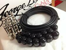 George L's 155 Guitar Pedal Cable Kit LARGE .155 Black / Nickel 15/14/14 NEW
