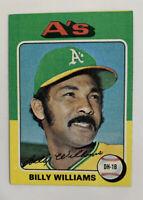 1975 Billy Williams # 545 Topps Baseball Card Oakland Athletics A's HOF
