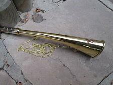Corne de brume marine en laiton massif avec chainette longueur 30cm neuve