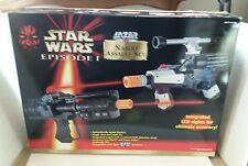STAR WARS EPISODE I LAZER TAG NABOO ASSAULT SET T11738 TOY GUN SET, NIB